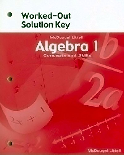 9780618020522: McDougal Littell High School Math: Worked-Out Solution Key Algebra 1