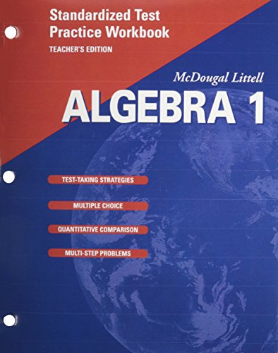 9780618020546: McDougal Littell Algebra 1: Standardized Test Practice Workbook, Teacher's Edition