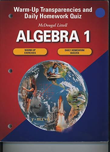 9780618020560: Algebra 1: Warm-up Transparencies and Daily Homework Quiz