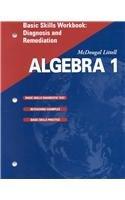 9780618020607: McDougal Littell Algebra 1: Basic Skills Workbook: Diagnosis & Remediation SE