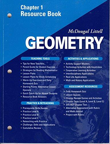 9780618020645: McDougal Littell - Geometry - Chapter 1 Resource Book