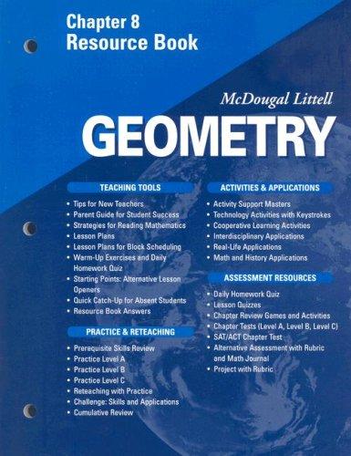 9780618020713: McDougal Littell - Geometry - Chapter 8 Resource Book
