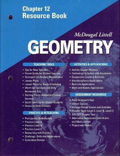 9780618020751: McDougal Littell - Geometry - Chapter 12 Resource Book