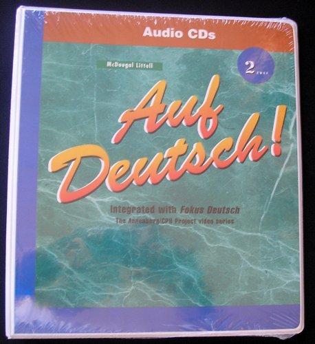 9780618029815: AUDIO CDs, Auf Deutsch! 2 Integrated with Fokus Deutsch