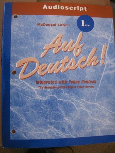 9780618029839: Auf Deutsch!: Audioscript Level 1
