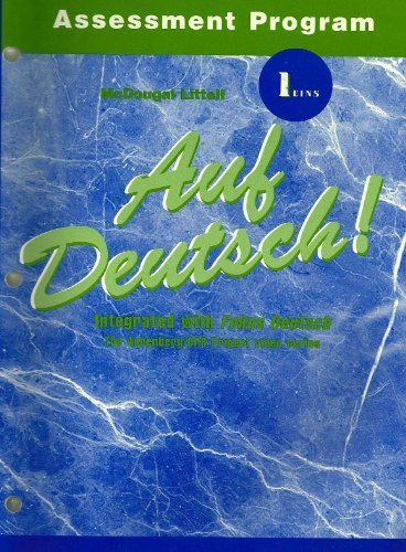 Auf Deutsch! Assessment Program 1 Eins: Lida Daves-Schneider; Karl Schneider