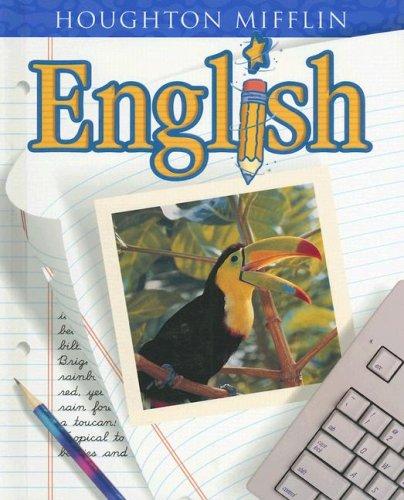 9780618030804: Houghton Mifflin English: Student Edition Hardcover Level 4 2001