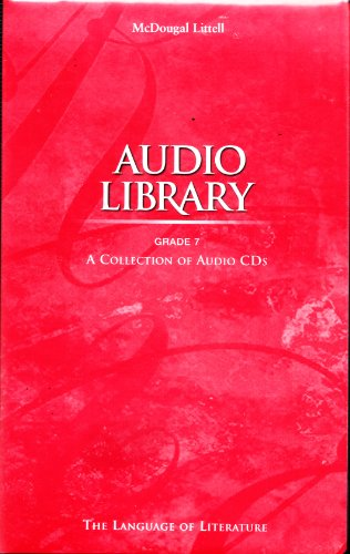 9780618032518: Audio Library: A Collection of Audio CDs (Grade 7) (The Language of Literature)