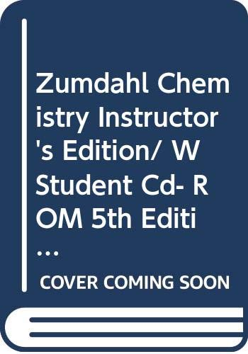 9780618035939: Zumdahl Chemistry Instructor's Edition/ W Student Cd- ROM 5th Edition