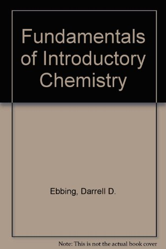 9780618036325: Fundamentals of Introductory Chemistry