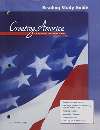 9780618036912: Creating America, Grades 6-8 a History of the United States Reading Study Guide: Mcdougal Littell Creating America