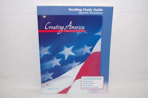 9780618037001: Creating America: Reading Study Guide (Spanish)