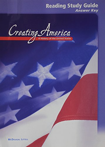 9780618037537: McDougal Littell Creating America: Reading Study Guide Answer Key Grades 6-8