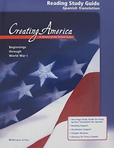 9780618037568: Creating America: Beginnings through World War l: Reading Guide (Spanish) (Spanish Edition)