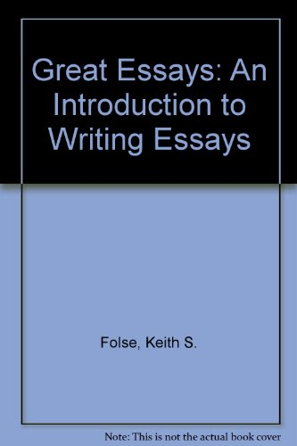 9780618039722: Great Essays: An Introduction to Writing Essays