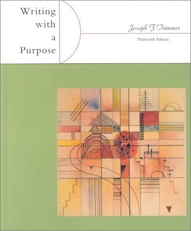 9780618039777: Writing With A Purpose Thirteenth Edition