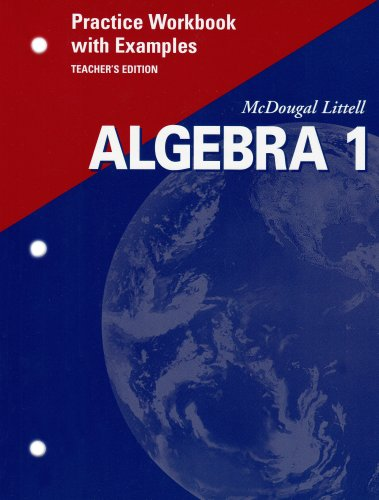 9780618043309: McDougal Littell Algebra 1: Practice Workbook with Examples, Teacher's Edition