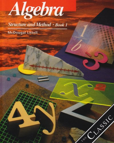 9780618044306: Algebra: Structure and Method Book 1