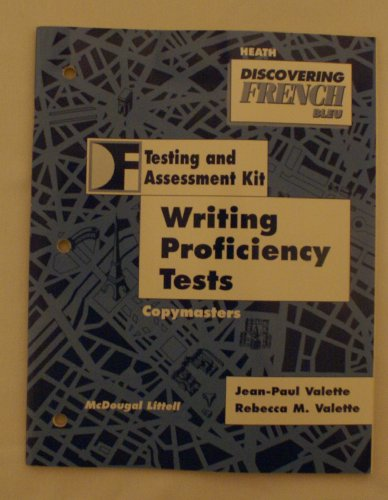 Discovering French Bleu Writing Proficiency Tests