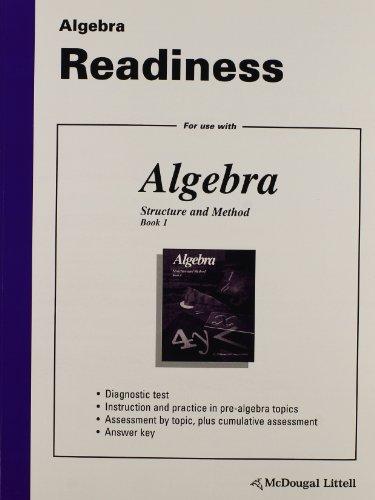 9780618048984: McDougal Littell Structure & Method: Algebra Readiness Book 1