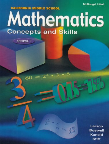 9780618050451: McDougal Littell Middle School Math California: Student Edition Course 1 2001