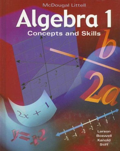 9780618050512: Algebra 1: Concepts and Skills: Student Edition © 2001 2001