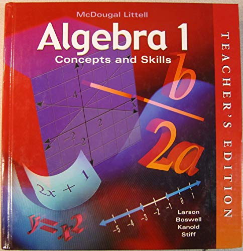 9780618050529: Algebra 1: Concepts and Skills, Teacher's Edition