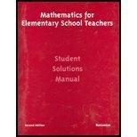 9780618051113: Mathematics For Elementary Teachers Second Edition
