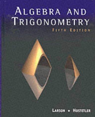 9780618052837: Algebra and Trigonometry, 5th Edition