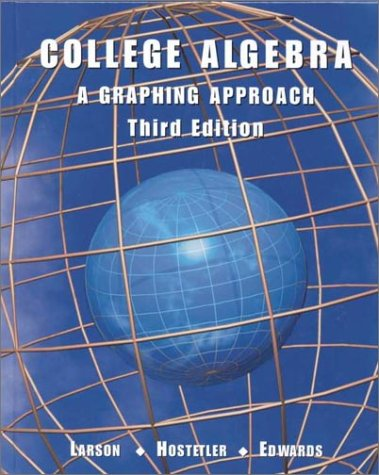 9780618052882: College Algebra: A Graphing Approach Third Edition
