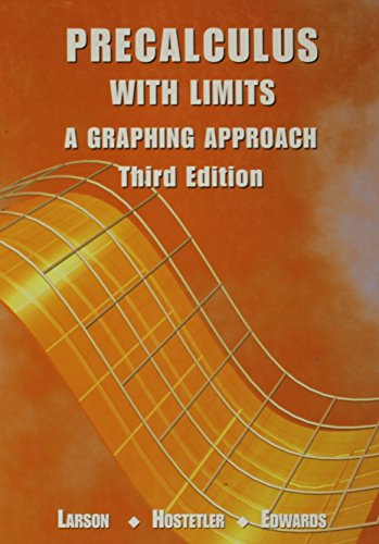 9780618052912: Precalculus with Limits: A Graphing Approach