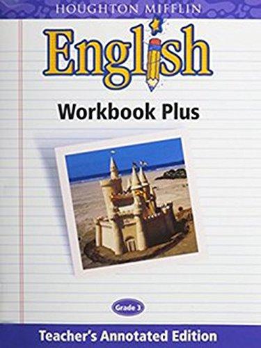 9780618055579: Houghton Mifflin English: Workbook Plus Teacher's Annotated Edition Grade 3