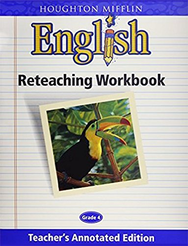 9780618055661: English Reteaching Workbook, Grade 4, Teacher's Annotated Edition