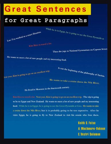 9780618056170: Great Sentences for Great Paragraphs: An Introduction to Basic Sentences and Paragraphs