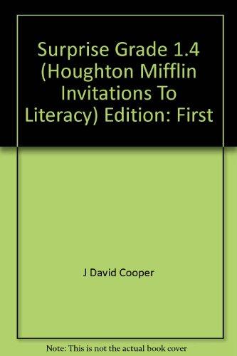 9780618057825: Surprise Grade 1.4 (Houghton Mifflin Invitations To Literacy)