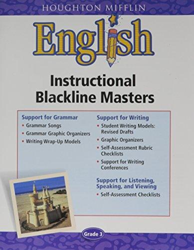 Grade 3, English, Instructional Blackline Masters (HM ENGLISH)