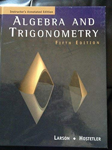 9780618066445: Algebra and Trigonometry [Instructor's Annotated Edition] Fifth Edition