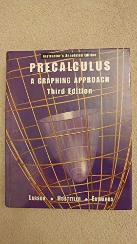 9780618066568: Precalculus a Graphing Approach
