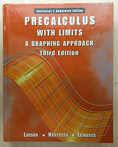 9780618066582: Precalculus With Limits: A Graphing Approach