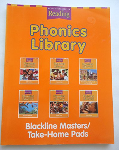 9780618067213: Phonics Library Blackline Masters/ Take-Home Pads, Houghton Mifflin Reading Level 2