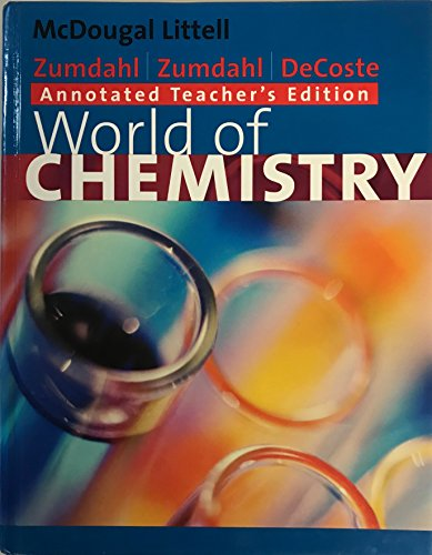 9780618072262: World of Chemistry (Annotated Teacher's Edition)