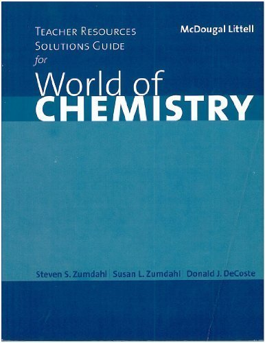 9780618072293: World of Chemistry: Teacher Resources Solutions Guide