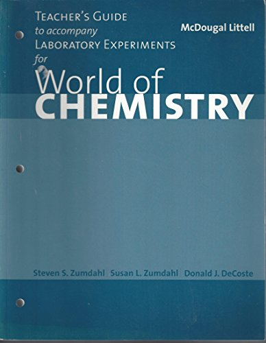 9780618072316: Teacher's Guide to accompany Laboratory Experiments for
