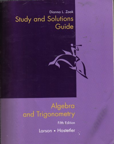 9780618072637: Study and Solutions Guide for Algebra and Trigonometry, 5th Edition