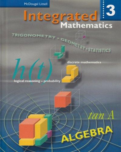 9780618074006: Integrated Mathematics: Student Edition Book 3 2002