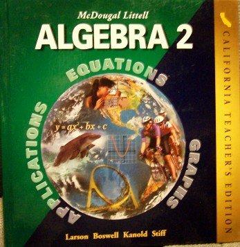 9780618077229: Algebra 2 (CA) (TE)