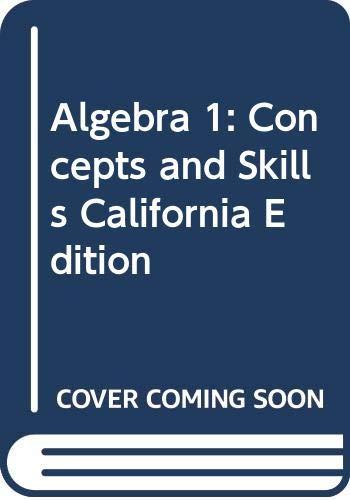 9780618077281: Algebra 1: Concepts and Skills California Teacher's Edition