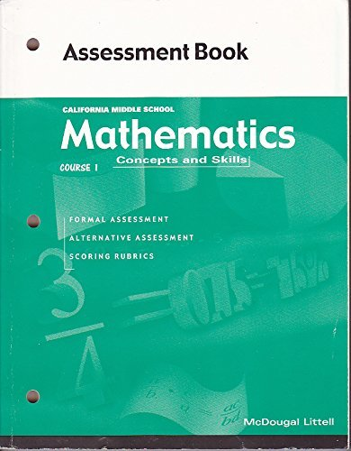 9780618077960: Mathematics Concepts and Skills Course 1 Assessment Book (California Middle School)