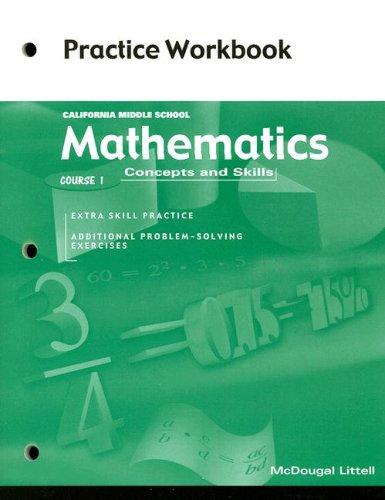 9780618077991: McDougal Littell Middle School Math California: Practice Workbook (Student) Course 1