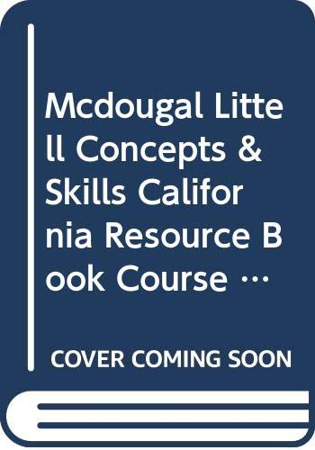 9780618078288: McDougal Littell Concepts & Skills California: Chapter 11 Resource Book Course 2